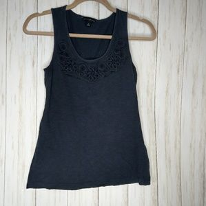 Banana Republic navy embellished tank xsmall